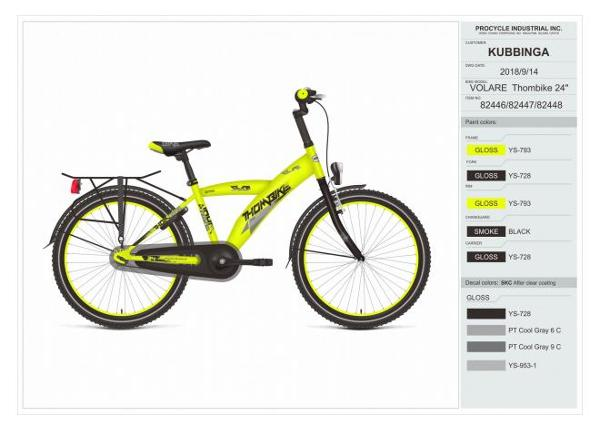 Poiste jalgratas Thombike City 24 tolli Volare