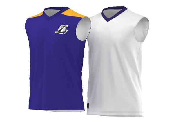 Laste kahepoolne korvpallisärk adidas Los Angeles Lakers Y Summer Run Junior AO2167