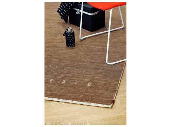 Narma käsinkudottu villamatto Tornio brown 140x200 cm