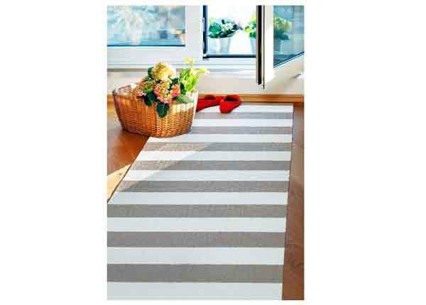 Narma muovimatto Birkas linen-white 70x300 cm