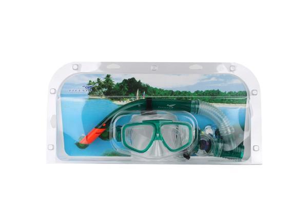 Laste sukeldumiskomplekt Fluent roheline