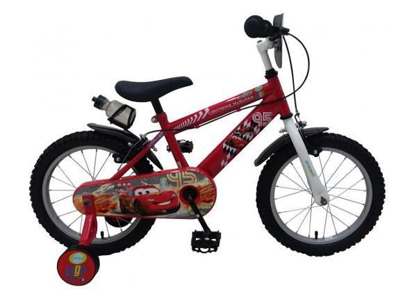 Poiste jalgratas 16 tolli käsipidurittega Disney cars