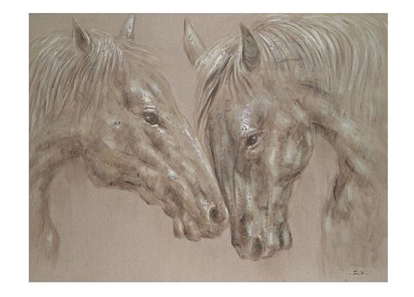 Öljymaalaus Kaksi hevosta 90x120 cm