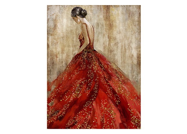 Öljymaalaus Nainen punaisessa 60x80 cm