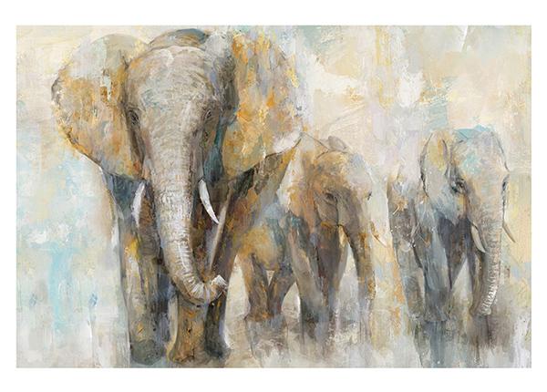 Öljymaalaus Elefantit 90x120 cm