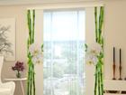 Läbipaistev paneelkardin Bamboo and white orchid 80x240 cm