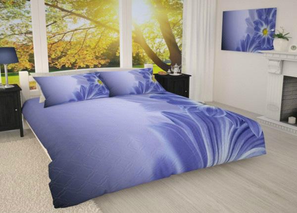 Päiväpeitto Sininen kukka 215x240 cm AÄ-183648