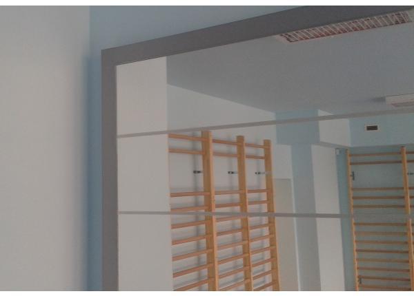 Seinapeegel raamiga topeltreelinguga m2