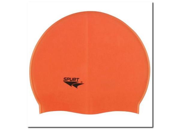 Ujumismüts silikonist SPURT G503 oranž