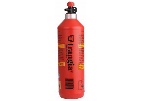 Kütusepudel vedelkütuse jaoks turvaklapiga