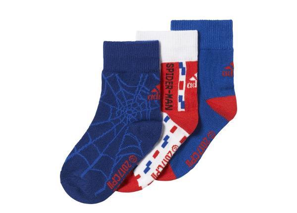 Lasten sukat Adidas Marvel Spiderman Socks Kids 3 paria CD2696