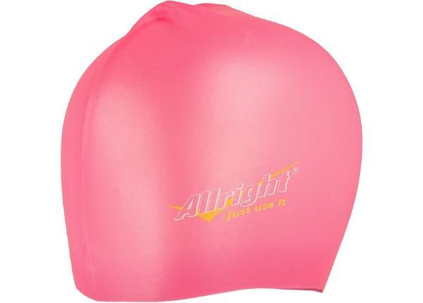 Ujumismüts Allright silikoonist roosa