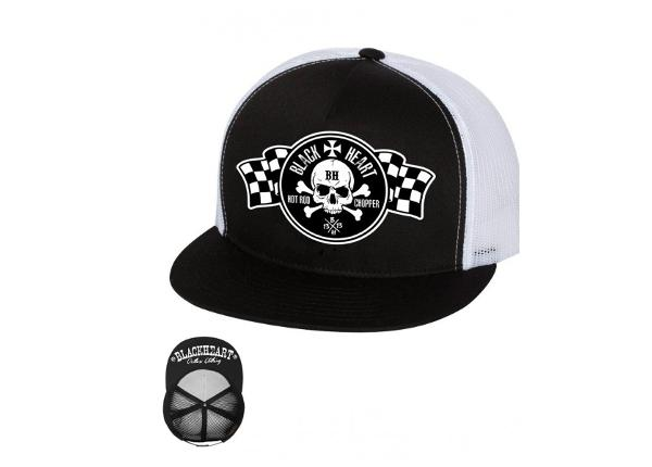 Lippalakki BLACK HEART Start Flag Trucker