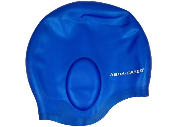 Uimalakki Aqua-Speed Ear Cap 01 sininen
