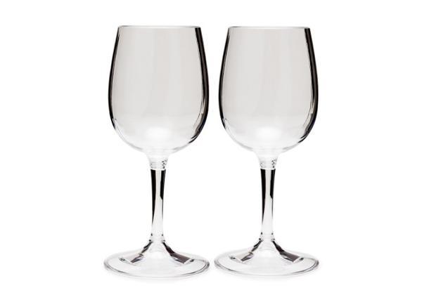 Kokkupandava jalaga kergekaaluline valge veini pokaal, 2tk pakis