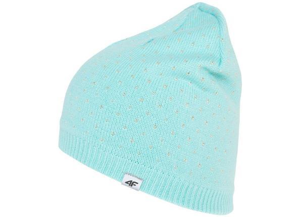 Детская зимняя шапка 4F jr J4Z17-JCAD222 1514 мятного цвета