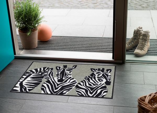 Uksematt Zebra grau 50x75 cm A5-186852