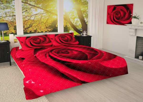 Päiväpeitto Punainen ruusu 215x240 cm AÄ-187052