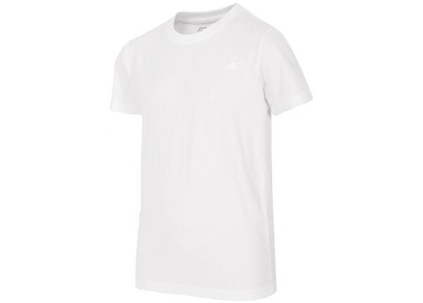 Lasten vapaa-ajan paita 4f Junior J4Z17-JTSM200 valkoinen