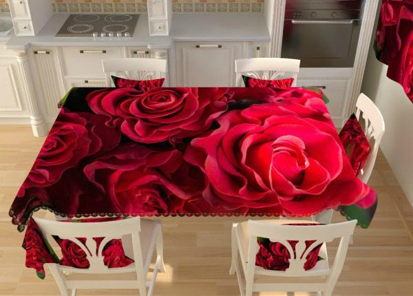 Laudlina Punased roosid 145x200 cm