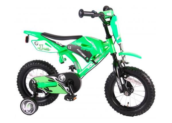 4984e48a97d ... Laste jalgratas Motobike Green 12 tolli Volare UUS