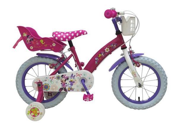 """Tyttöjen polkupyörä Disney Minnie Bow-Tique 14"""" TC-189287"""