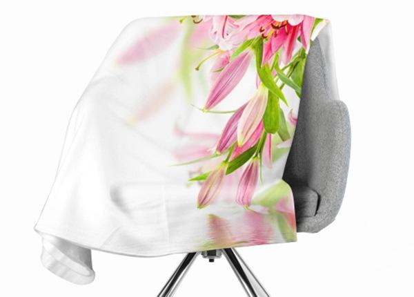 Флисовый плед Pink Lilies 130x150 см