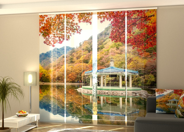 Puolipimentävä paneeliverho Autumn in South Korea 240x240 cm