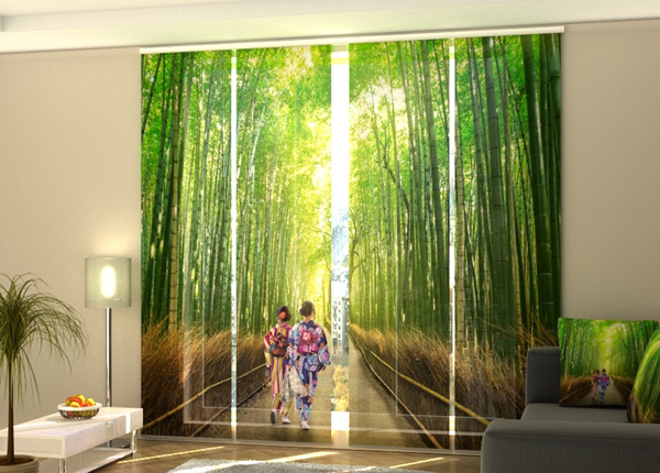 Puolipimentävä paneeliverho Bamboo Forest of Arashiyama 240x240 cm