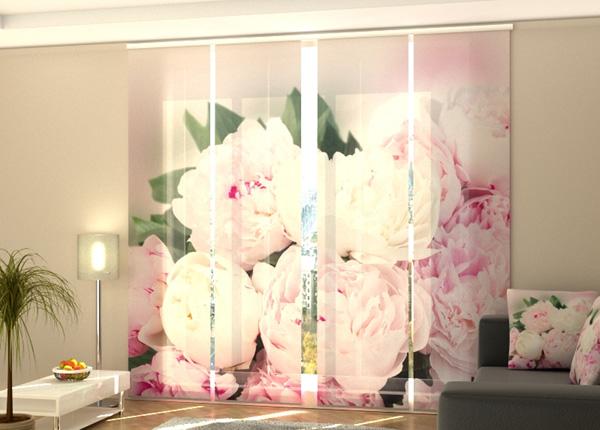 Puolipimentävä paneeliverho Fresh Pink Peonies 240x240 cm ED-189443