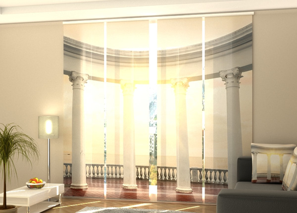 Puolipimentävä paneeliverho White Columns on a Seafront 240x240 cm