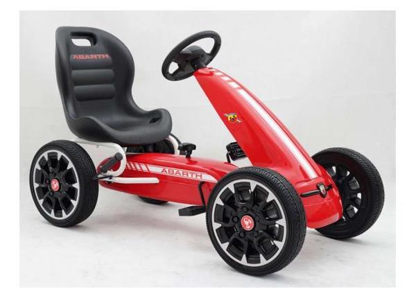 Lasten Karting-auto polkimilla Abarth punainen