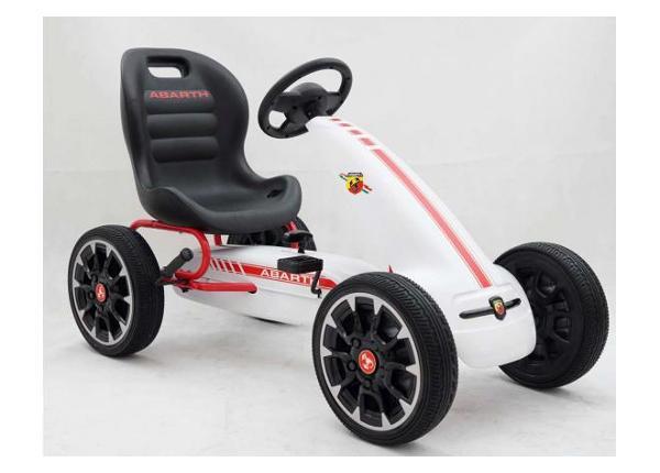 Lasten Karting-auto polkimilla Abarth valkoinen