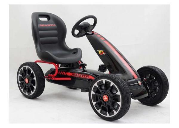 Lasten Karting-auto polkimilla Abarth musta
