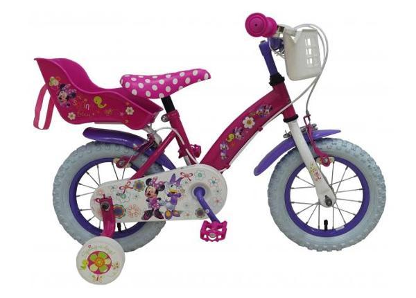 Jalgratas tüdrukutele Disney Minnie Bow-Tique 12 tolli 2 käsipidurit