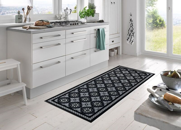 Ковер Kitchen Tiles black 75x120 см