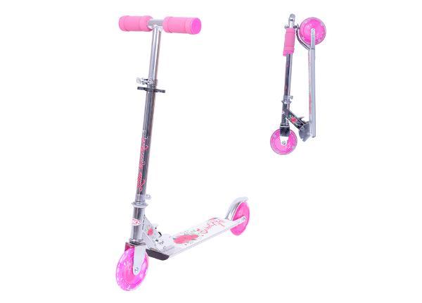 Tõukeratas WORKER Racer Sweet Girl with tuledega ratastega