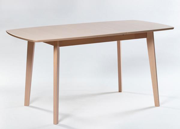 Jatkettava ruokapöytä Bari 80x120-150 cm, valkoinen pyökki GO-192683