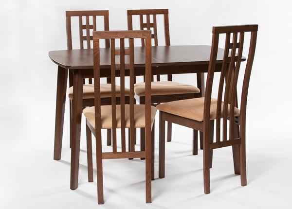 Удлиняющийся обеденный стол Bari 80x120-150 cm + 4 стула Monza, светлый венге