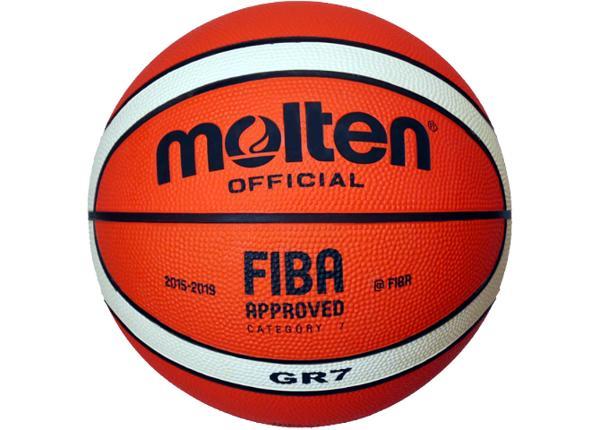 Баскетбольный мяч Gr7 резина Molten