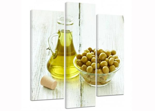 Картина из 3-частей Olives in a bowl 3D 90x80 см