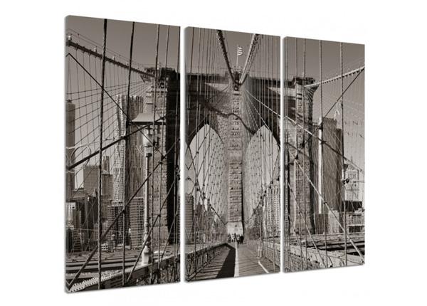 Картина из 3-частей Brooklyn Bridge 3D 90x80 см