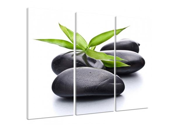 Картина из 3-частей Spa stones 3D 90x80 см