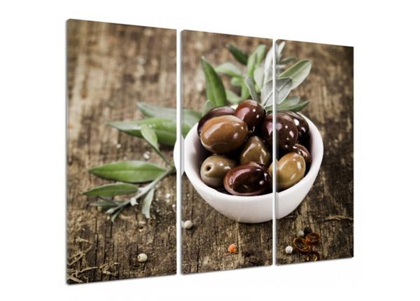 Картина из 3-частей Fresh olives 3D 90x80 см