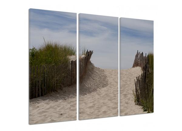 Картина из 3-частей Fenced dunes 2 3D 90x80 см