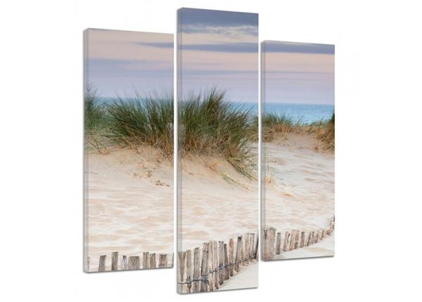 Картина из 3-частей Fenced dunes 3D 90x80 см