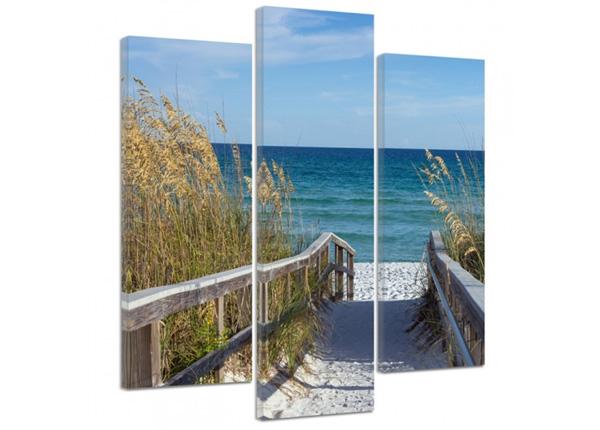 Картина из 3-частей The road to the beach 2 3D 90x80 см