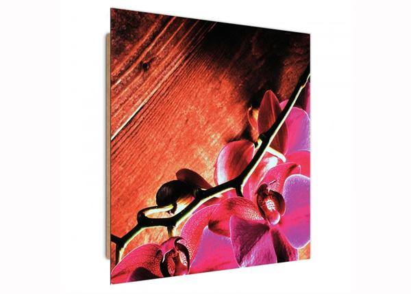 Настенная картина Pink orchids 1 3D 30x30 см