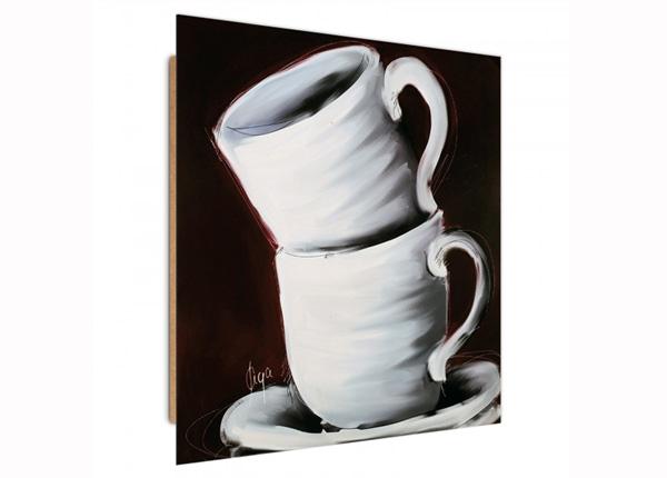 Настенная картина Two cups 3D 30x30 см
