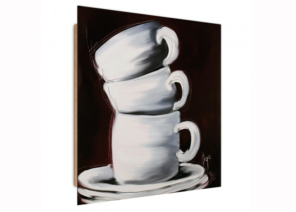 Seinapilt Three cups 3D 30x30 cm